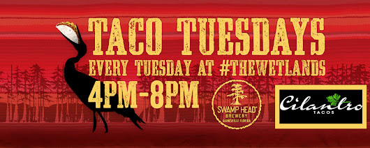 Taco Tuesdays at the brewery w/ Cilantro Tacos - Swamp Head