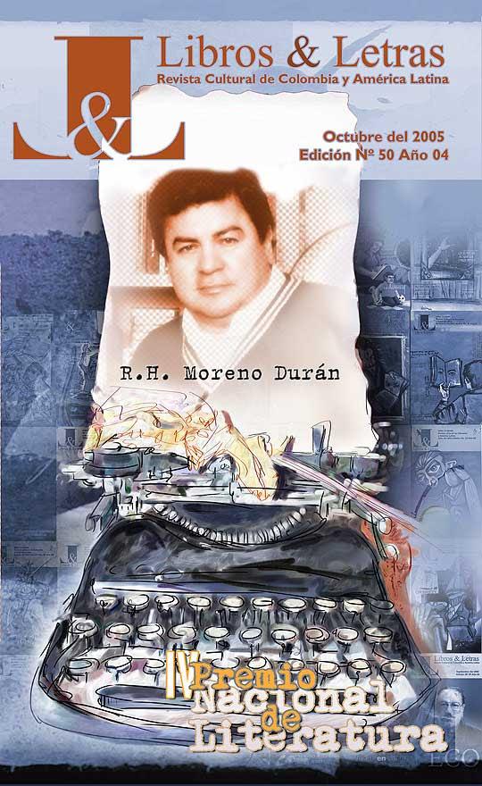 Diseño para revista Libros y Letras, motivo RH Moreno Durán