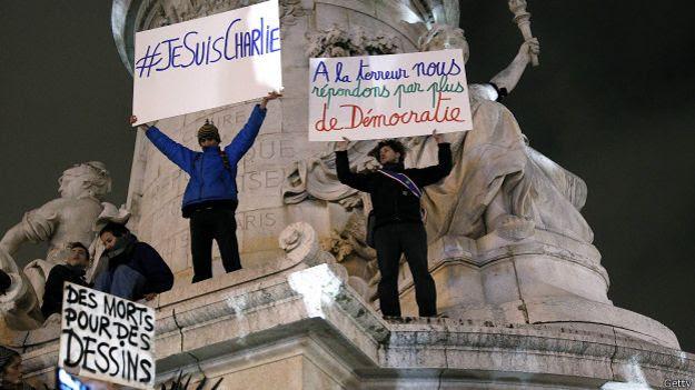 Manifestaciones en repudio al ataque en contra de Charlie Hebdo