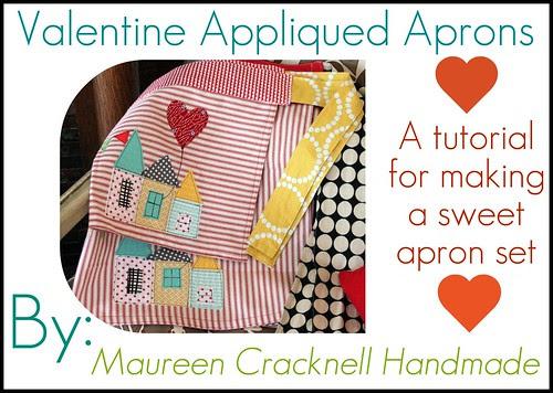 Valentine Appliqued Apron Set Tutorial