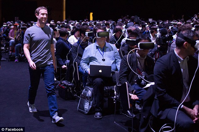The Facebook CEO has received some questions about the future of virtual reality and the public worries it will make us more isolated, as the pictures suggests. But Zuckerberg argues that what is going on in the photo is completely the opposite because everyone connected to the headset 'was sharing the same experience'
