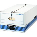 Bankers Box Stor/File - Storage box - Legal - white with blue print