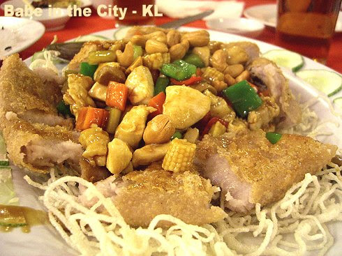SL - yam ring with diced chicken