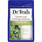 Dr Teals Soaking Solution, Pure Epsom Salt, Relax & Relief, with Eucalyptus & Spearmint - 3 lb