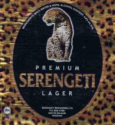 Serengeti beer - our tipple of choice on the Serengeti
