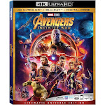 Marvel Avengers: Infinity War (4K/UHD + Blu-Ray + Digital)
