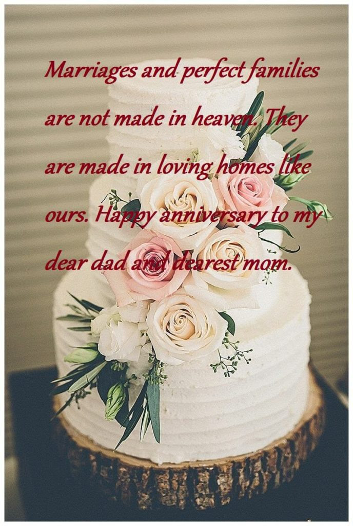 Quote Happy Anniversary Mom And Dad From Daughter Status ...