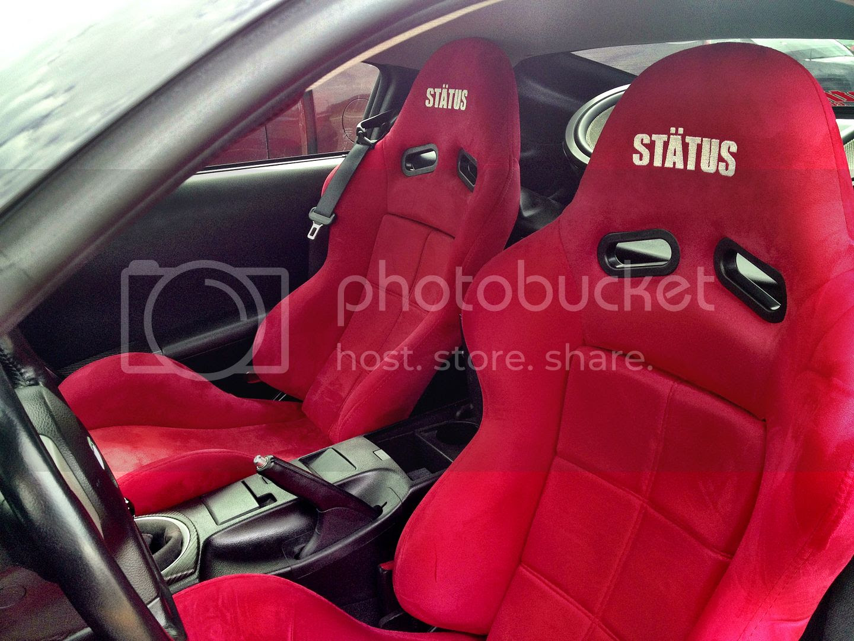 Aggressive BMW E46 M3 Showcasing Status Racing Ring Seats ...