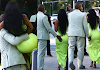 OMG: Kanye West carries Kim Kardashian out of their G Wagon and grabs her butts as they arrive at 2 Chainz's wedding in Miami (See Photos)