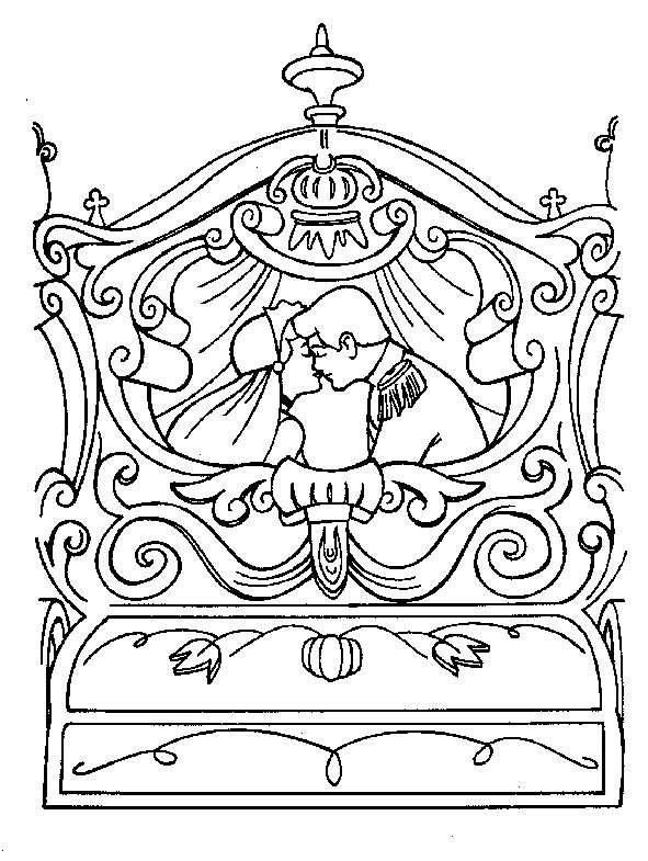 Coloriage A Imprimer Cendrillon Part Dans Le Carosse Avec Son Prince