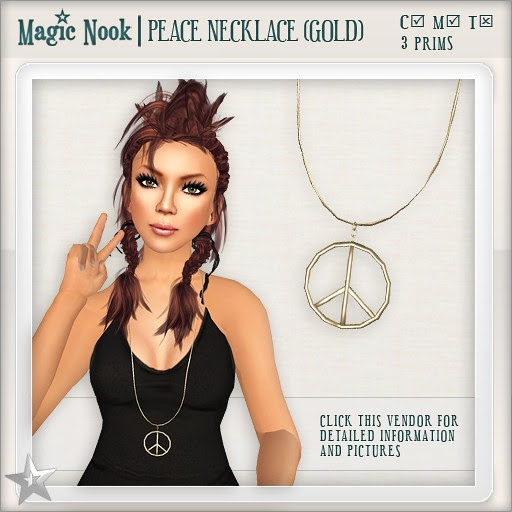 [MAGIC NOOK] Peace Necklace (Gold)
