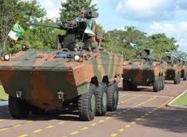 Exército contrata R$ 6,3 bilhões em blindados e torres de armamentos sem licitação