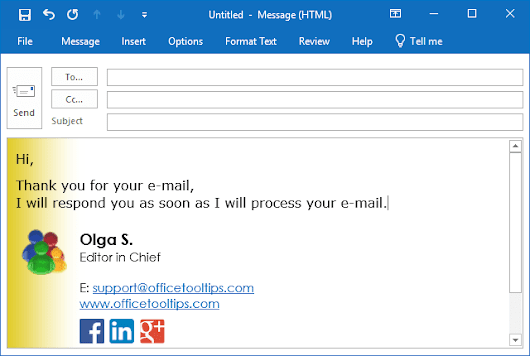 How to reply quickly using AutoText in Outlook