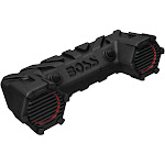 "Boss 6.5"" Powersports Plug & Play Weatherproof Speaker System with Multi Color Illumination - Black"