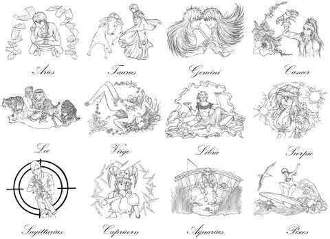 Coloriage Signes Du Zodiaque Du Manga Bleach Par Marvolo San