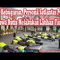 VIDEO; Jaga Kebugaran, Personil Satlantas Polres Gowa Rutin Melakukan Latihan Fisik