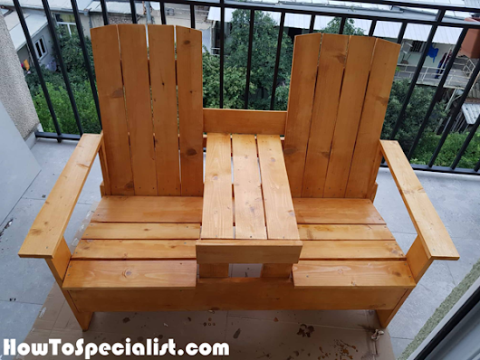 DIY Double Adirondack Chair with Table | HowToSpecialist - How to Build, Step by Step DIY Plans