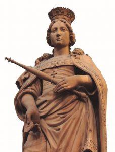 Imagem de Sta. Isabel na catedral de Fulda [Foto: Frederico Viotti]