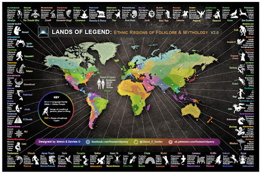 Lands of Legend: Ethnic Regions of Folklore &... - Maps on the Web
