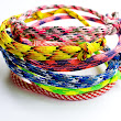 Paracord Bracelets - Set of 3 - Adjustable Knot Colorful Bracelets Rope Bracelet Neon Bracelets