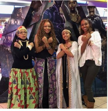 AFRICANS IN AMERICA DRESSED TO GO SEE THE MOVIE, BLACK PANTHER (PHOTOS)