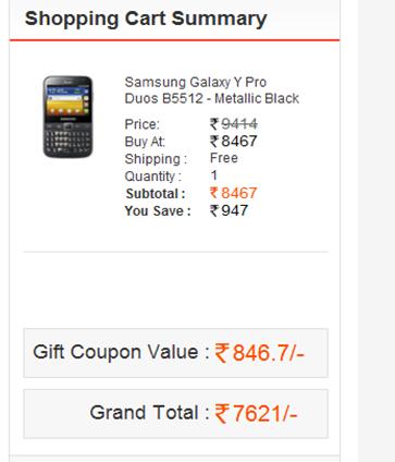 xGEli Samsung Galaxy Y Pro Duos B5512 – Metallic Black at 7621