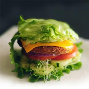 low carb bread alternative burger no bun