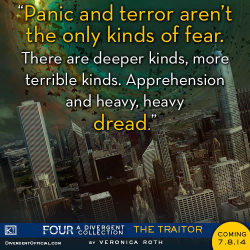 Here's the new quote from FOUR! Can you name other kinds of fear, Initiates? Pre-order FOUR: A DIVERGENT COLLECTION.