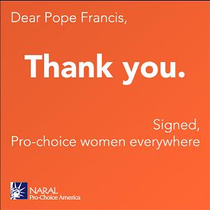 Gracias Papa Francis proabortistas mujeres en todas partes