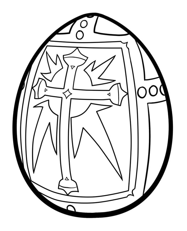 Religious Easter Egg Coloring Page | Creative Ads and more…