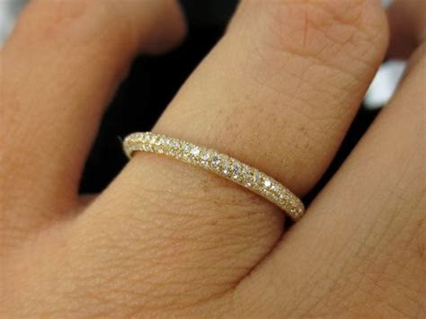 2.5mm Three Row Micro Pave Diamond dome Eternity Band