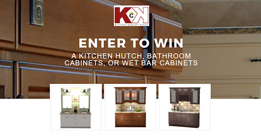 Win a Kitchen Hutch, Bathroom Cabinets, or Wet Bar Cabinets from Kitchen Cabinet Kings