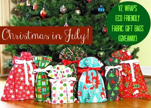 VZ Wraps Reusable Fabric Gift Bags: A Christmas in July Giveaway Event! - USA Love List