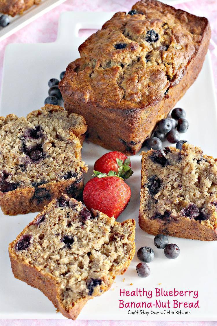 Healthy Blueberry Banana-Nut Bread