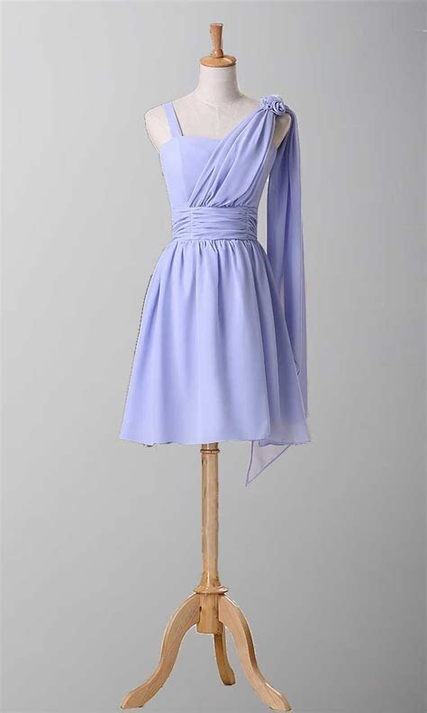 Elegan Knee Length Bridesmaid Dress With Straps KSP069