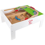 Hape Railway Play and Stow Wooden Train Set Activity & Toy Storage Play Table by VM Express