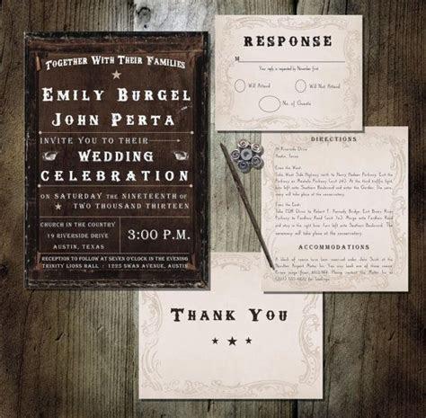 PRINTABLE Wedding Invitation   Western Theme Brown