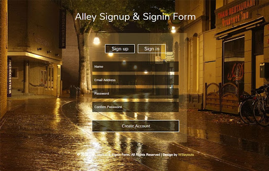 Alley Signup and Signin Form Responsive Widget Template - w3layouts.com