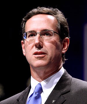 Rick Santorum speaking at CPAC in Washington D.C.