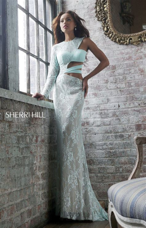 Sherri Hill 21279   One Sleeve with Side Cut Outs Dress
