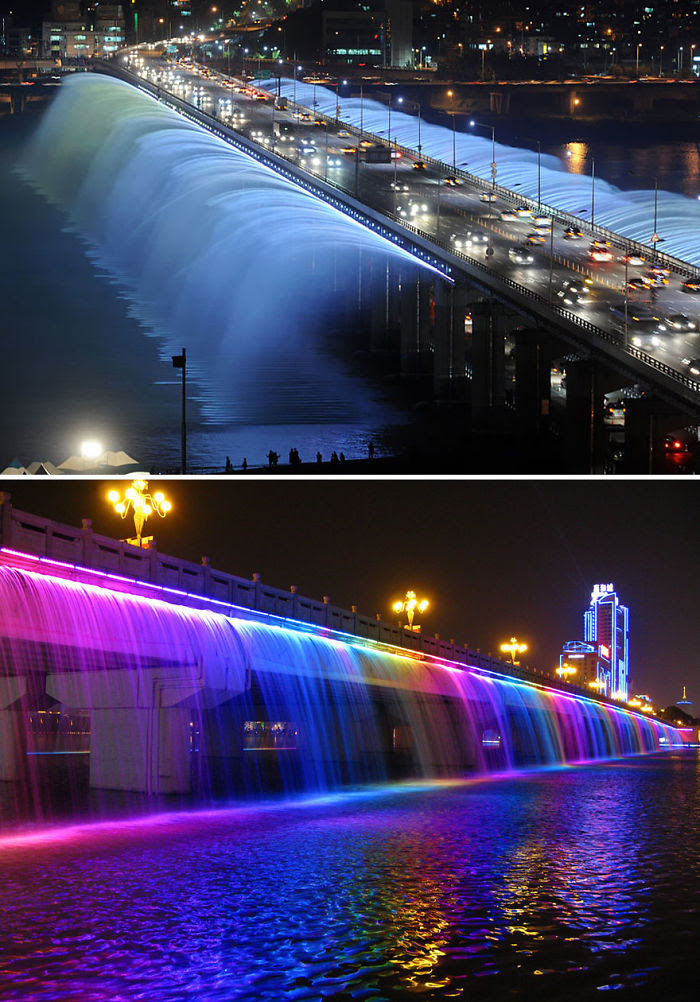 Puente Banpo, Seúl, Corea del Sur