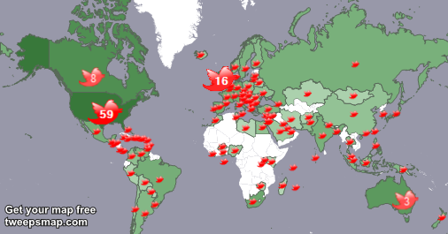 Arshad Kashfi Author on Twitter: My followers live in 113 countries: USA(59%), UK.(16%)...  Get your free map!