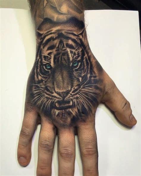 tiger tattoo hand images hand tattoos guys