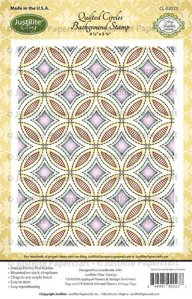 Quilted Circles Cling Background Stamp