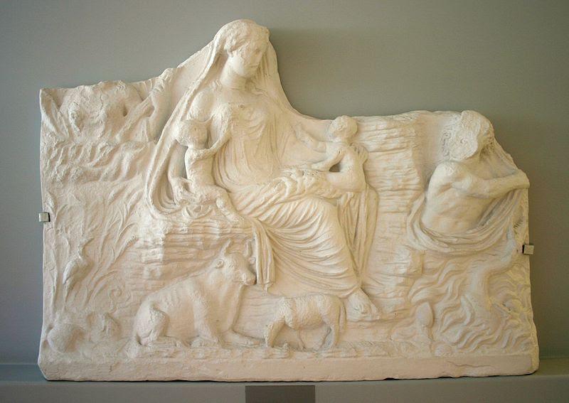 Fil: Roma - Museo dell'Ara Pacis - Calco Rilievo Tellus - Foto Giovanni Dall'Orto, 30-Mar-2008.jpg