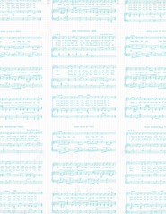 LETTER/STANDARD size JPG Christmas Sheet Music WHITE & TURQUOISE Vintage GF paper 350dpi