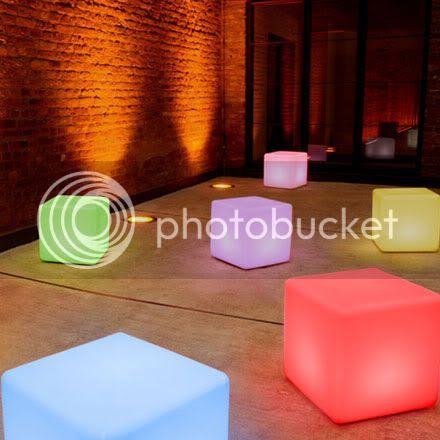 led cubes stools