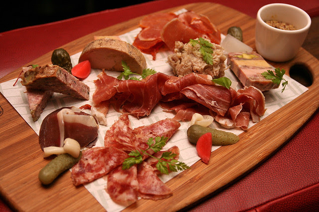 Plateau de Charcuterie - cured meats, duck terrine, homemade pickles