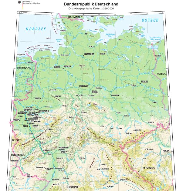 Karte Des Rumtreibers Pdf.25 Einzigartig Karte Deutschland Topographisch