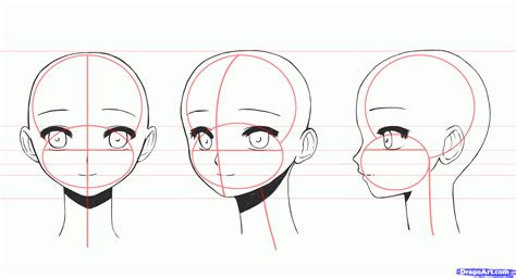 draw anime girl faces step  step anime heads